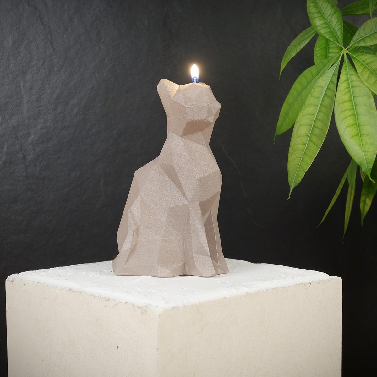 Katzen Kerze - Grau