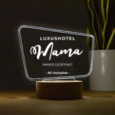 LED-Leuchte mit Text im Werbetafel-Design