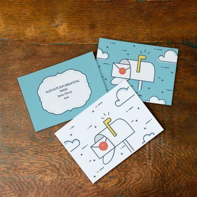 Geburtstagspost mit Karte und Text