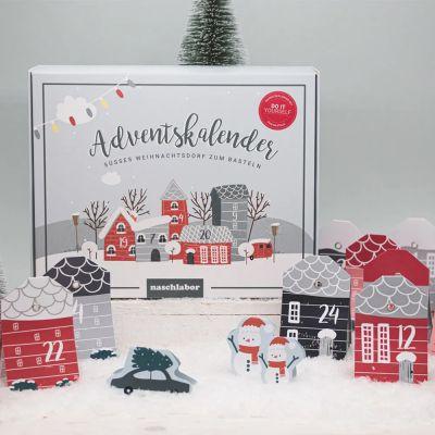 DIY Adventskalender Weihnachtsdorf