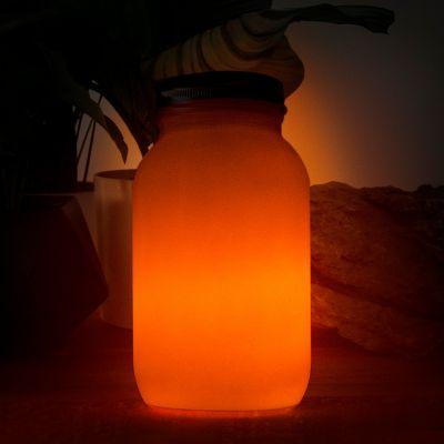 Feuer im Glas Solar-Laterne