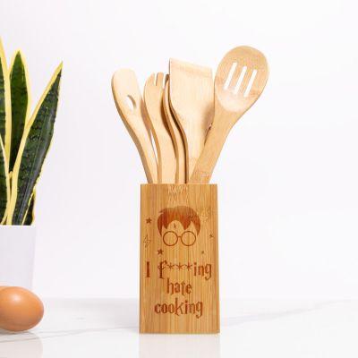 Kochlöffel-Set inkl. Box mit Text für Küchen-Magier