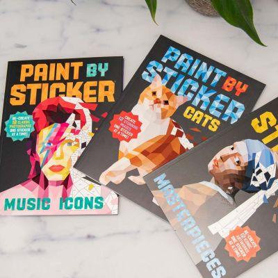 Paint By Sticker Malbücher mit Aufklebern