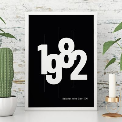 Personalisierbares Poster mit Geburtsjahr