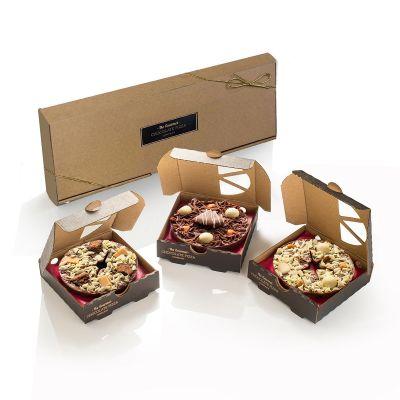 Mini-Pizza-Set aus Schokolade