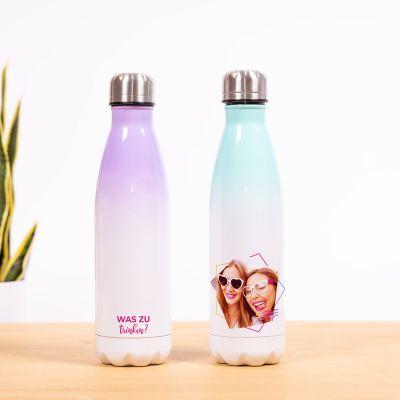 Thermosflasche mit Bild und Text
