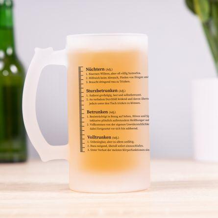 Bierkrug mit Trink-Levels