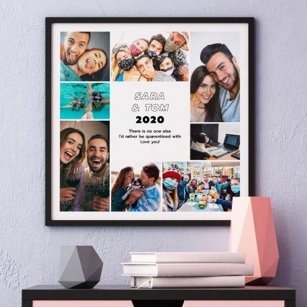 Poster mit 8 Bildern und Text