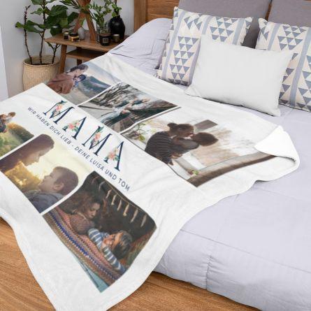Mama-Decke mit 6 Bildern und Text