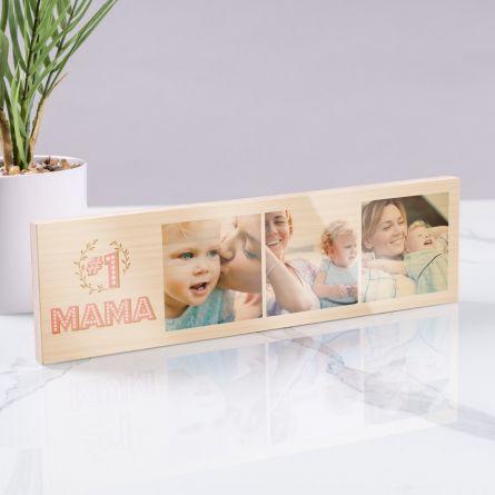 Schmales Holzbild Nr. 1 Mama