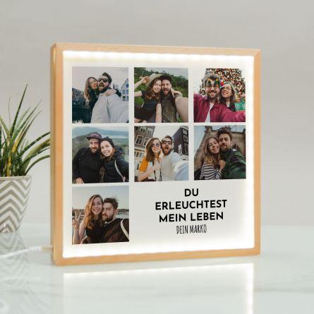 Light Box mit 7 Bildern und Text