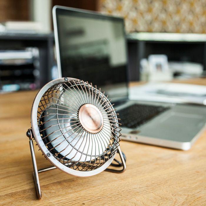 USB Schreibtisch Ventilator in Bronze