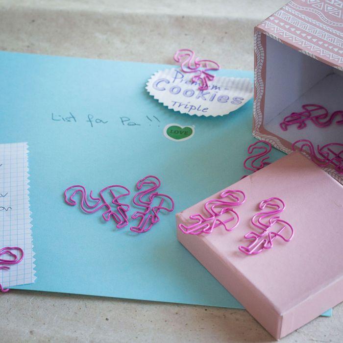 Flamingo Büroklammern 2er-Set