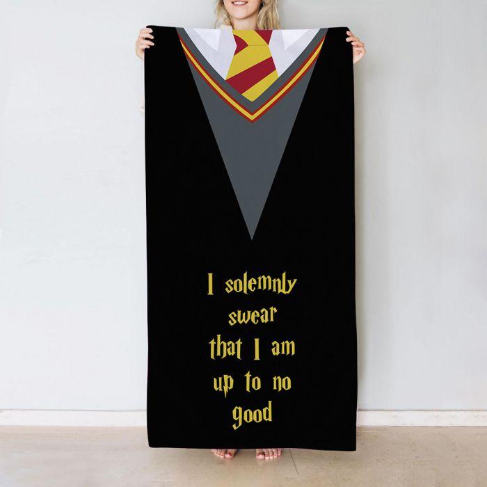 Handtuch mit 5 Zeilen im Zauberer-Stil