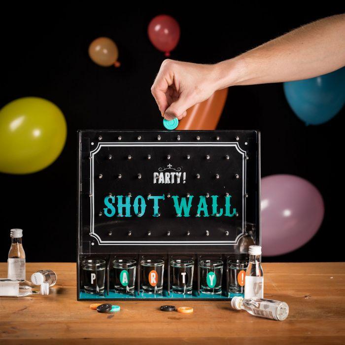 Shotgläser-Wand Partyspiel