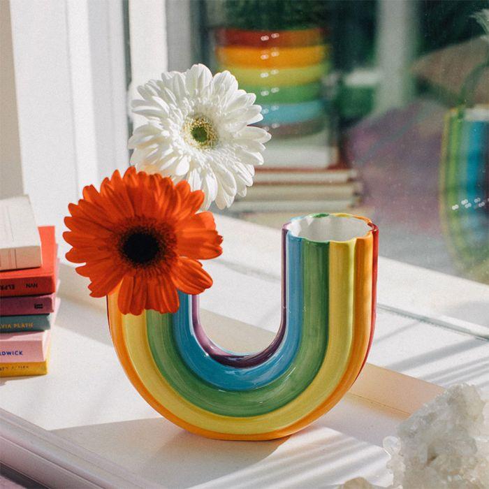 Regenbogen Vase