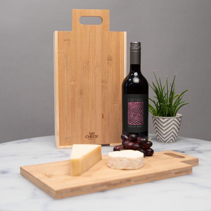 Geschenkbox für Wein und Käse