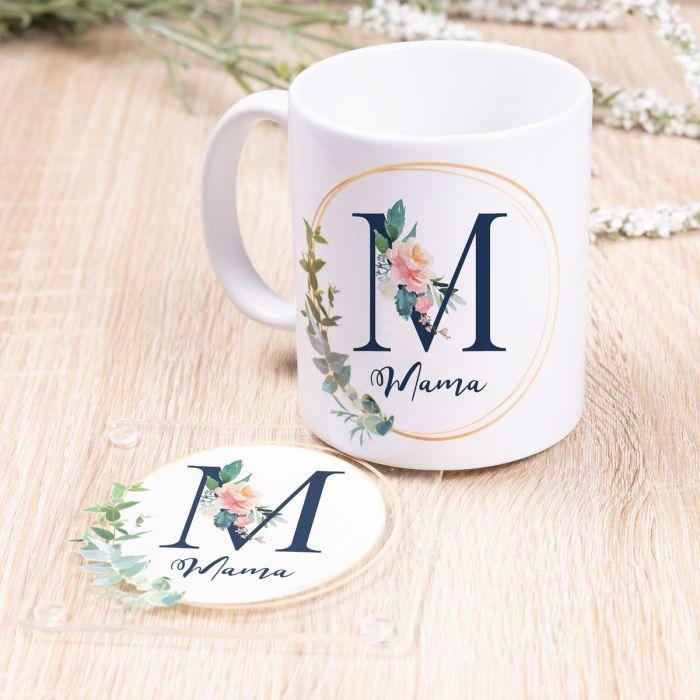 Mama-Tasse mit Untersetzer