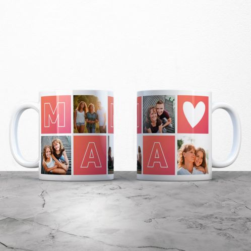Personalisierbare Tasse Mama mit Bildern