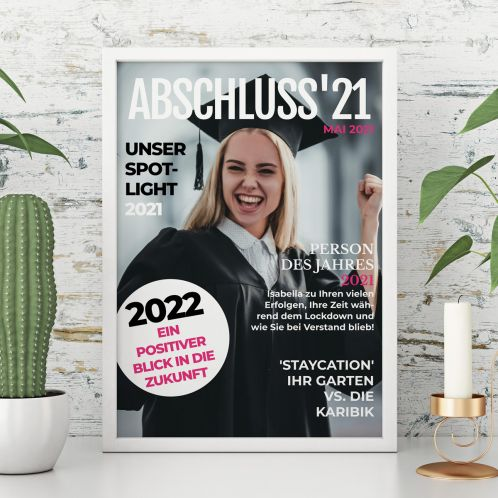 Poster im Magazin Cover Stil