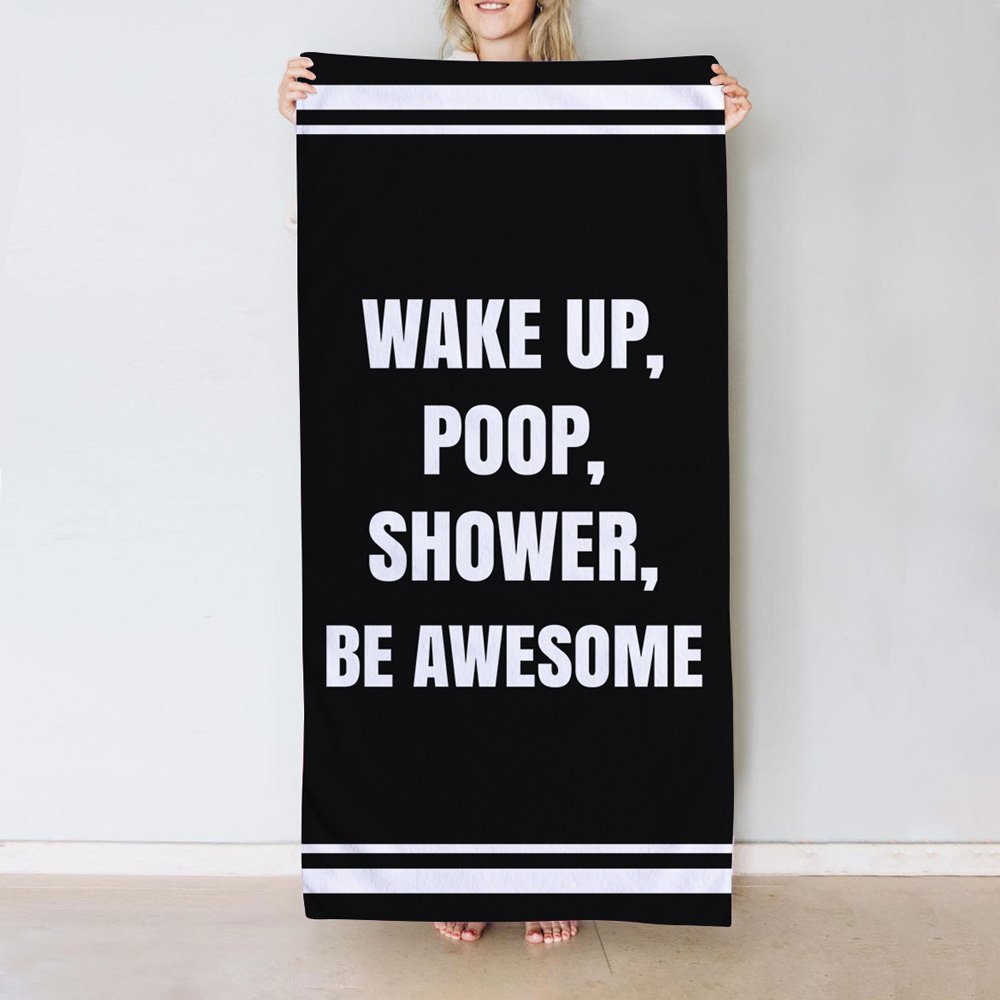 Handtuch mit 6 Zeilen