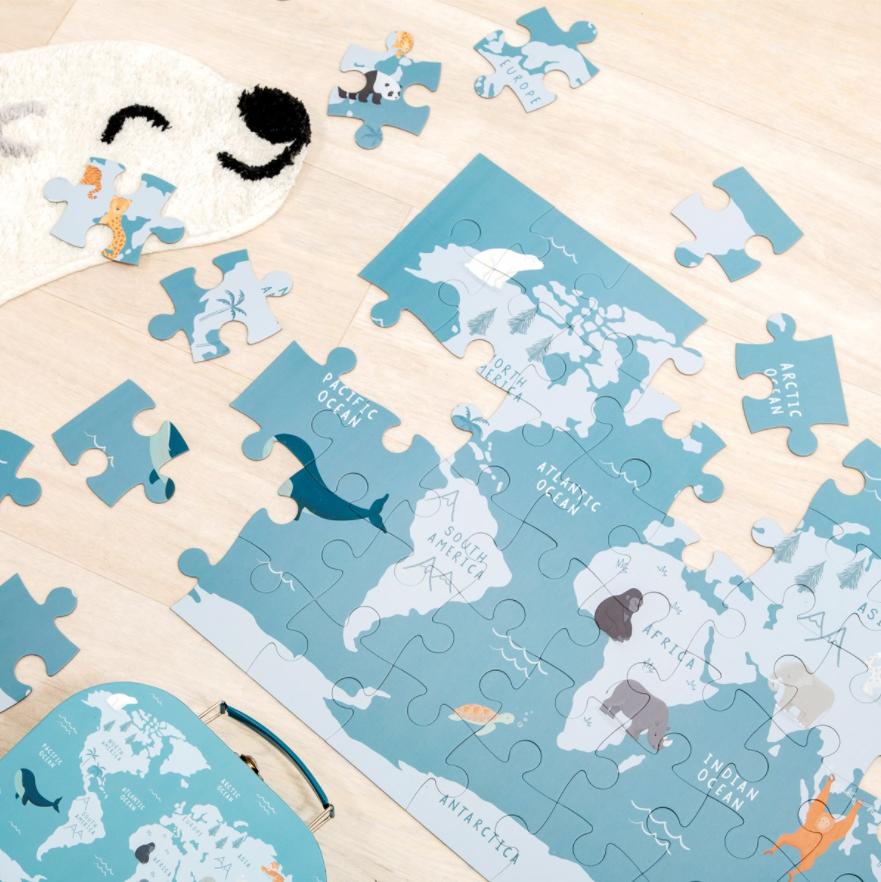 Puzzle für Kinder Gefährdete Tierarten