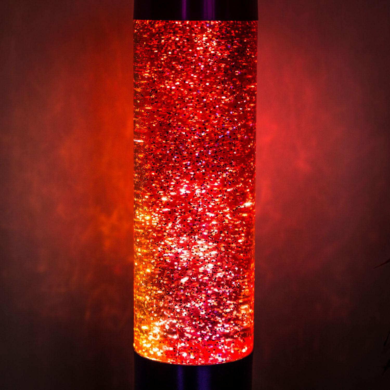 Regenbogen-Glitzer Lava-Lampe