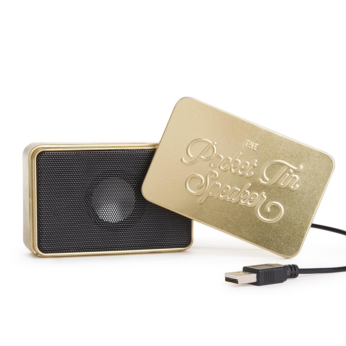 Mini-Bluetooth-Lautsprecher in der Blechdose