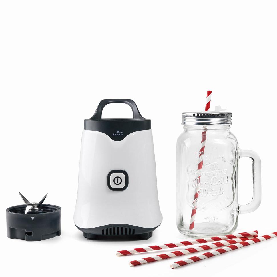 Mini Standmixer Mix & Go mit Glasbehälter