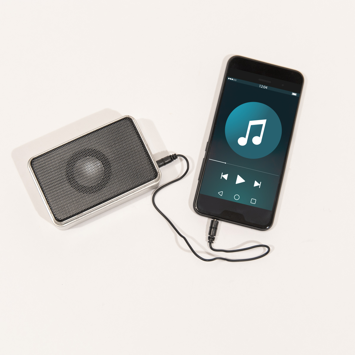 Mini Lautsprecher in der Blechdose