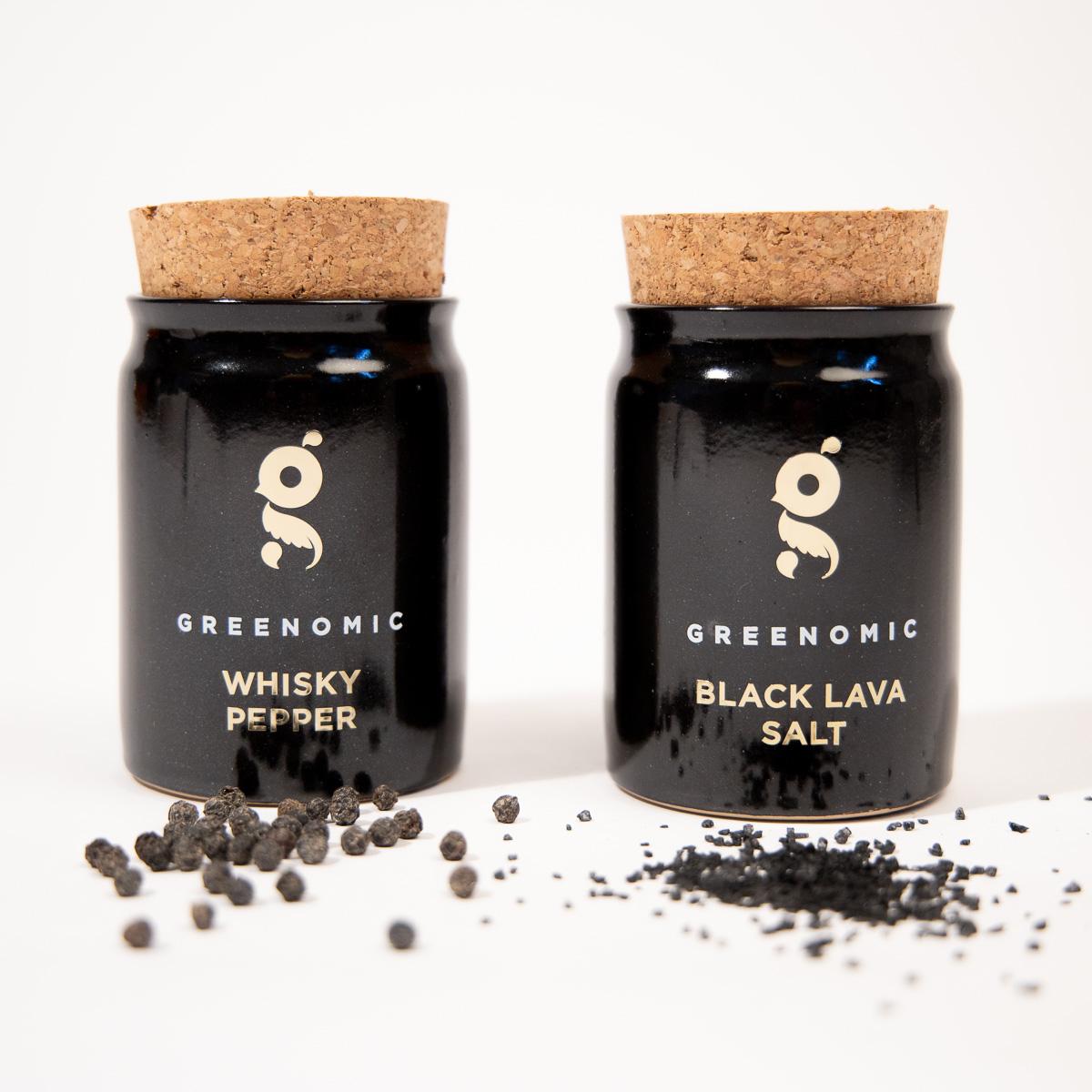 Black Lava Salz oder Whisky Pfeffer