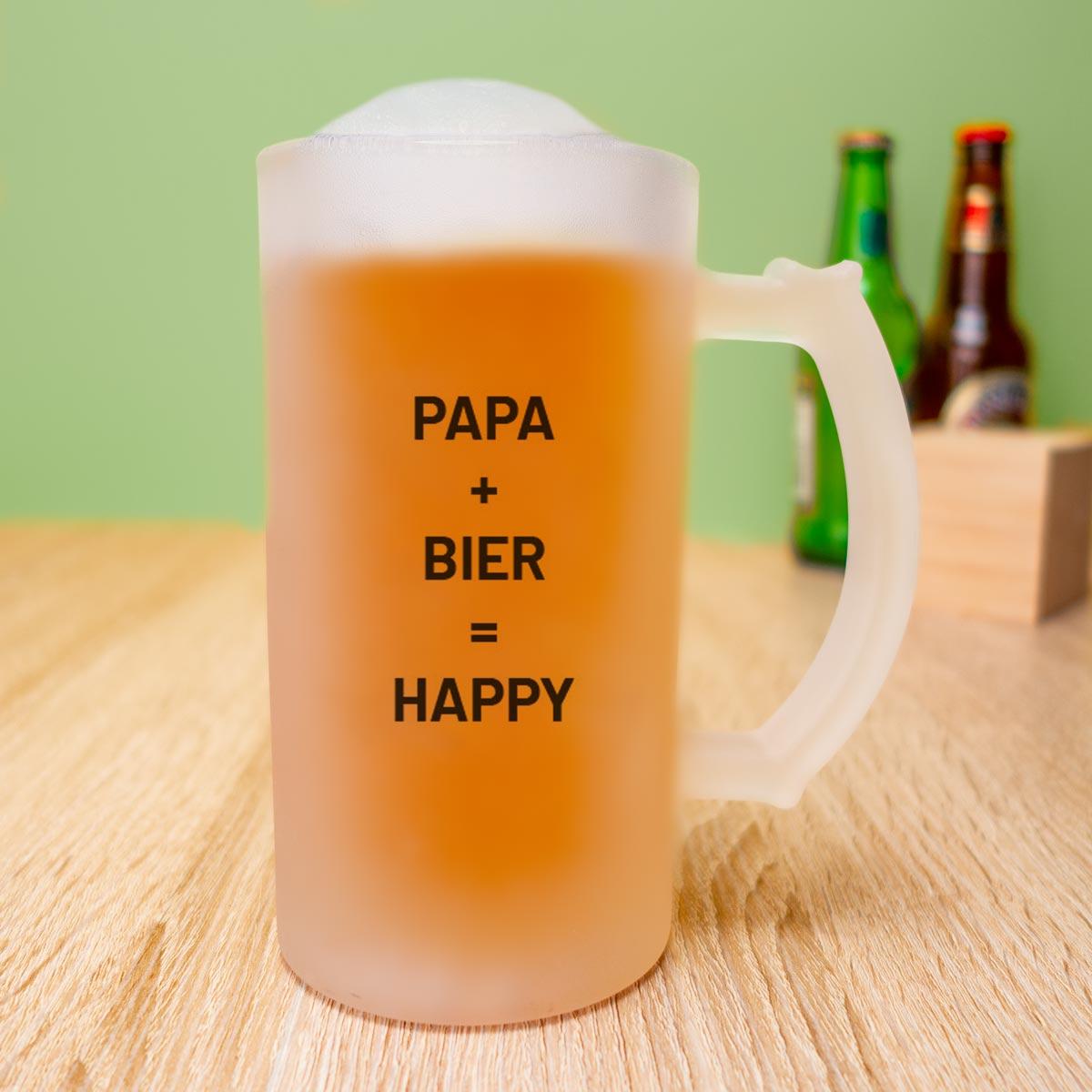 Weihnachtsgeschenke für Papa personalisierbarer Bierkrug mit Bild und Text
