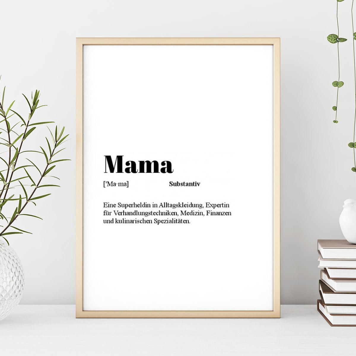 Geschenke für Mama Personalisierbares Poster Wörterbuch-Eintrag