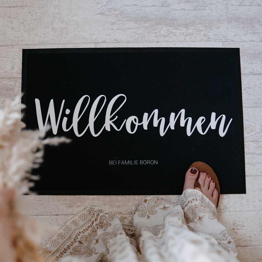 Geschenke für Frauen personalisierbare Fußmatte