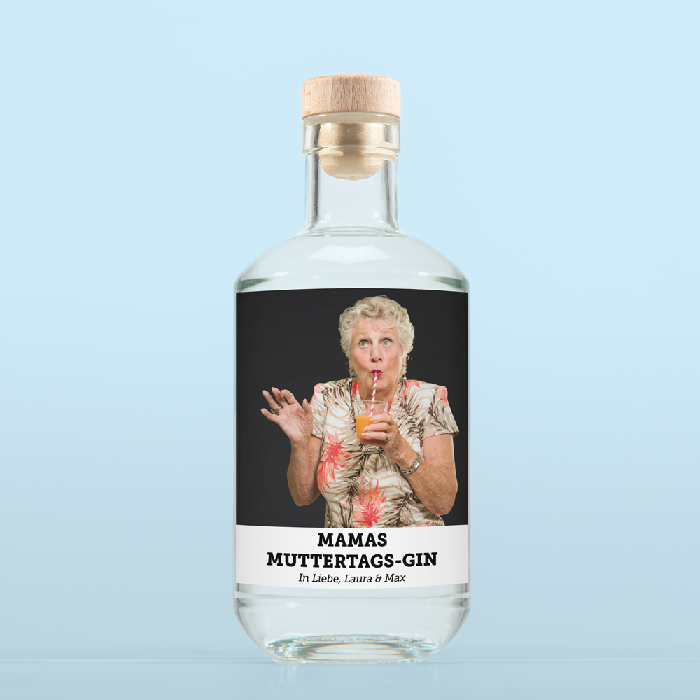 geschenke für mama personalisierbarer gin mit foto