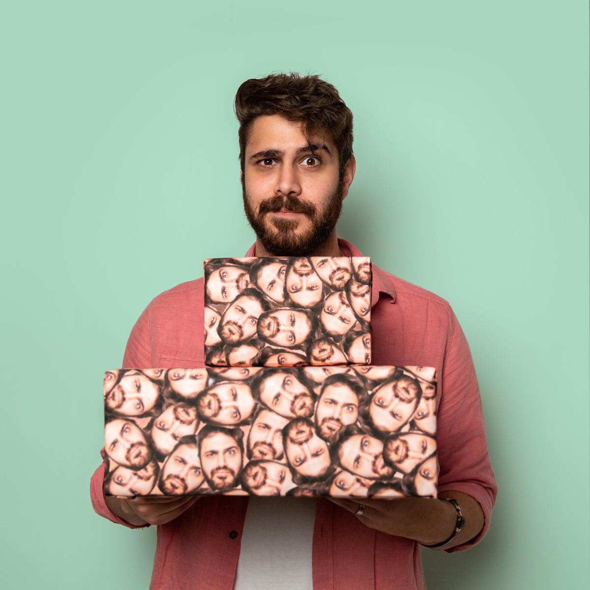 Geschenke für Männer Personalisiertes Geschenkpapier