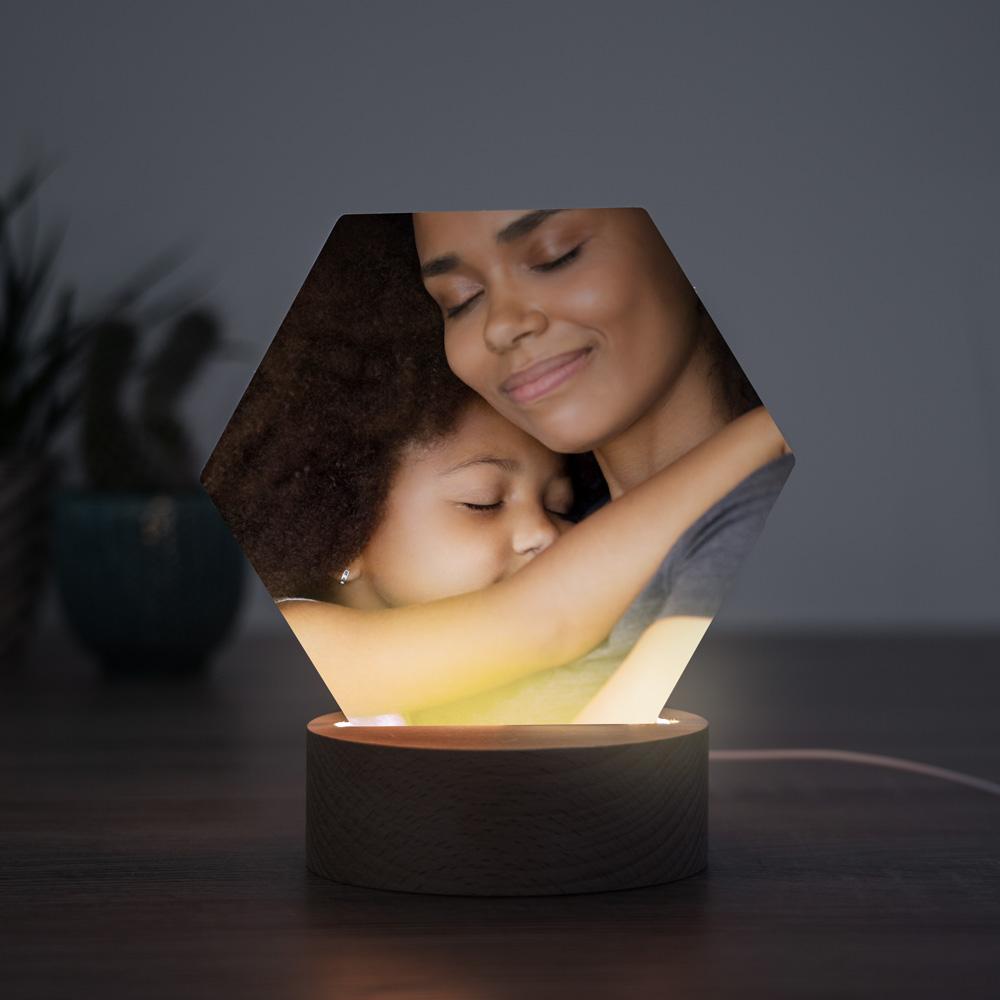 Muttertagsgeschenke personalisierte LED Leuchte mit Fotos