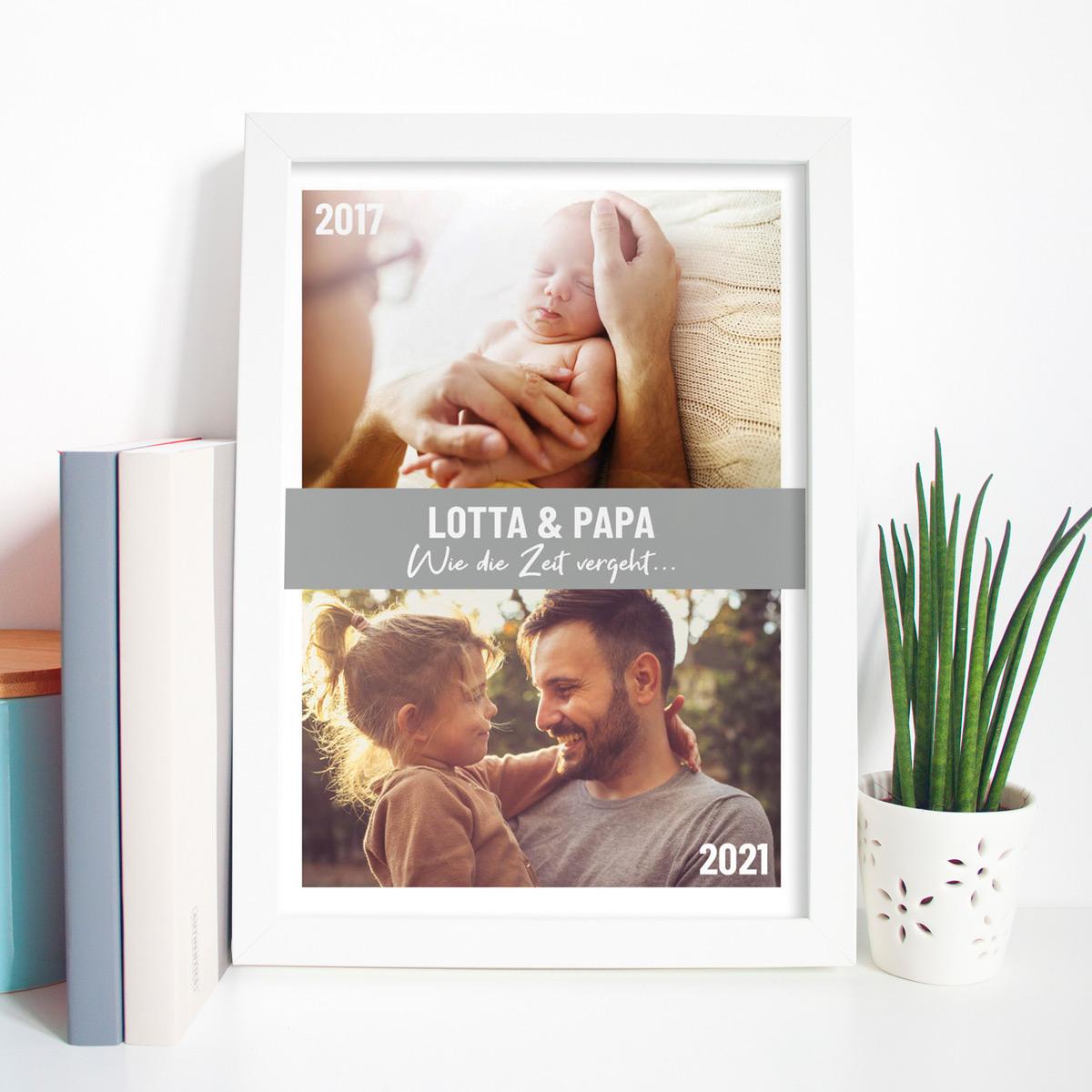 Vatertagsgeschenke personalisierbares Poster mit Bildern