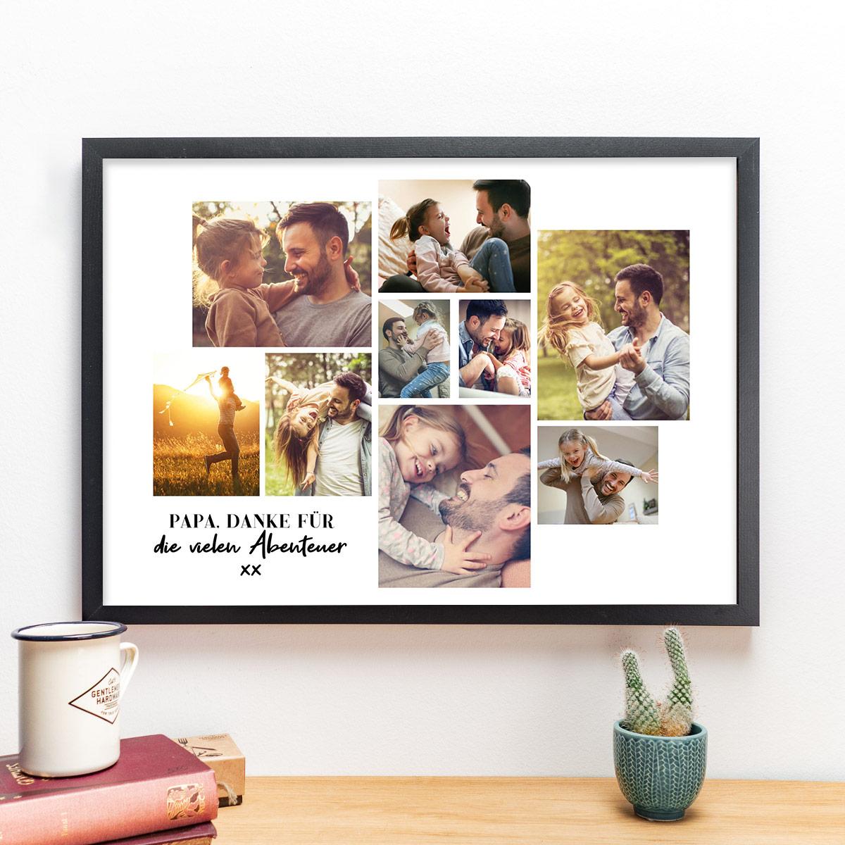 Vatertagsgeschenke personalsierbares Poster mit Bildern und Text