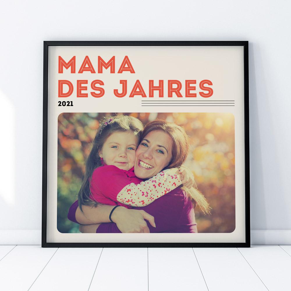 Geschenke für Mama Poster im Vinyl Cover Stil