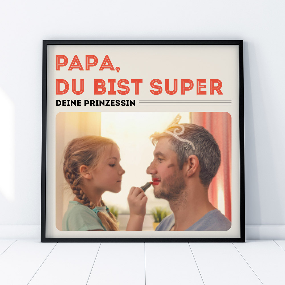 Vatertagsgeschenke Personalisierbares Poster im Vinyl Cover STil