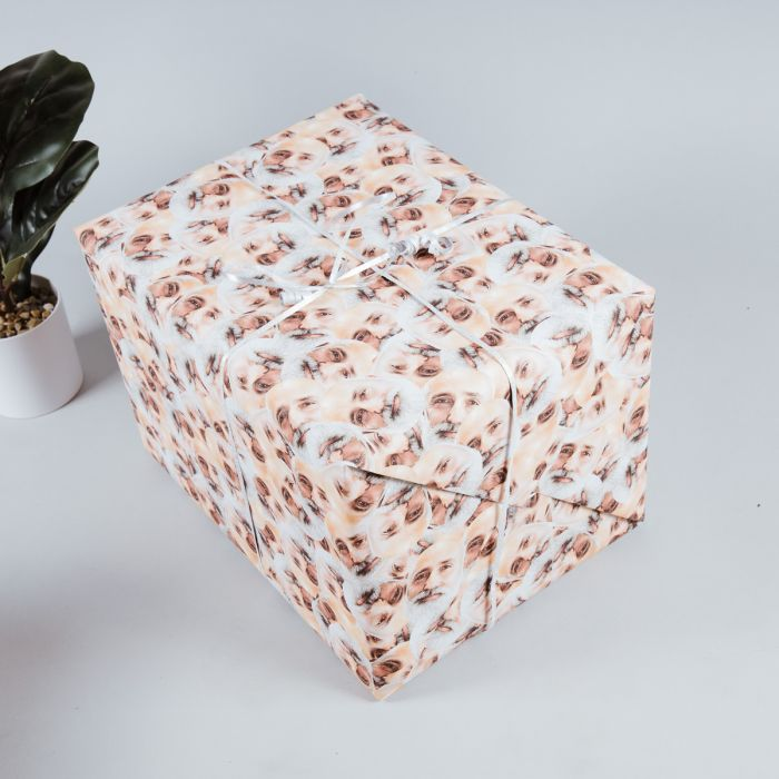 Vatertagsgeschenke personalisierbares Geschenkpapier mit Multi-Gesicht