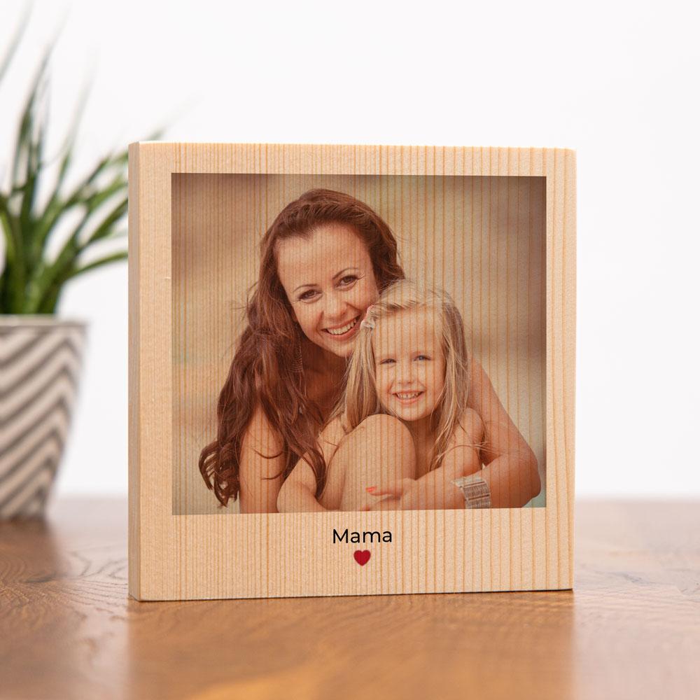 muttertagsgeschenk personalisierbares holzbild mit foto