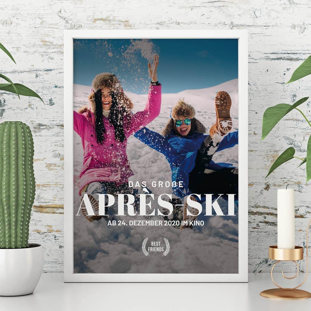 Weihnachtsgeschenke personalisierbares Poster Kinoplakat