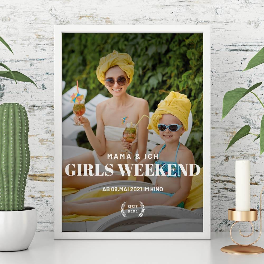 Geschenke für Mama Personalisierbares Poster im Kinoplakat-Stil