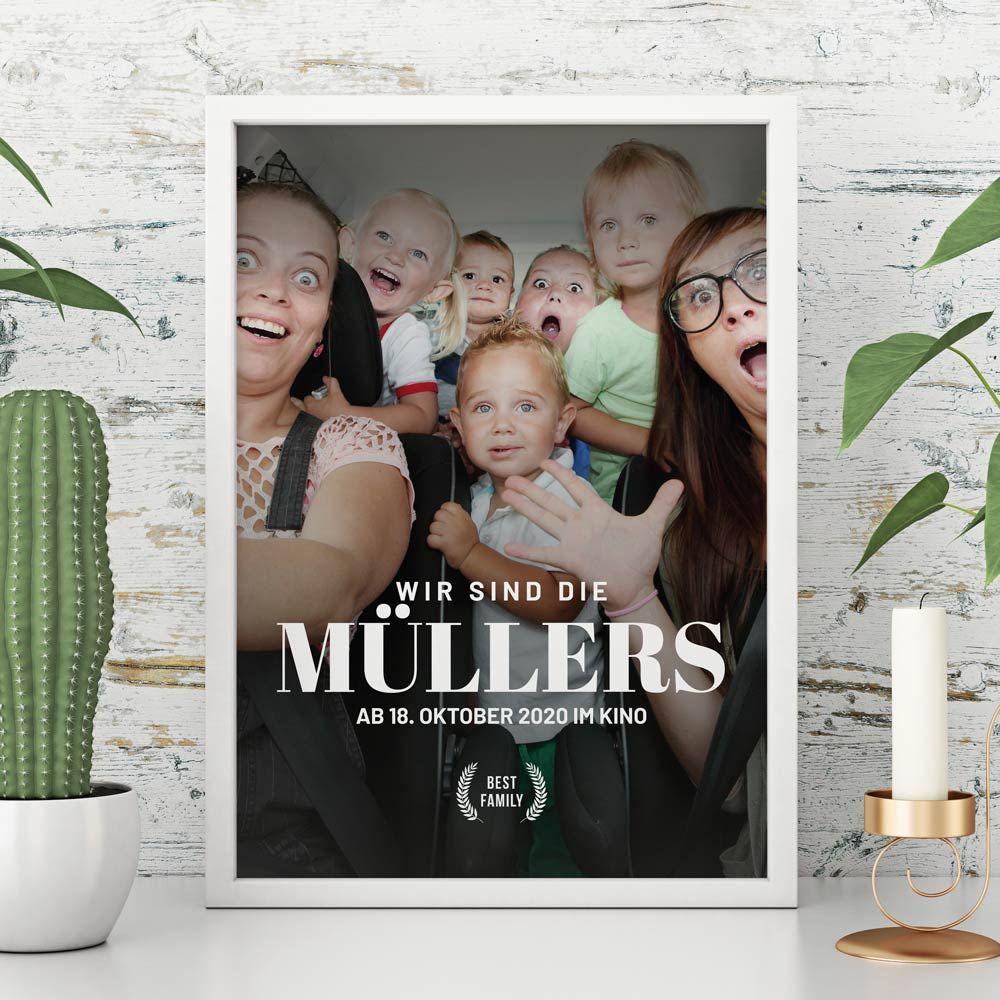 Geschenke für Frauen personalisierbares Poster im Kinoplakat-Stil