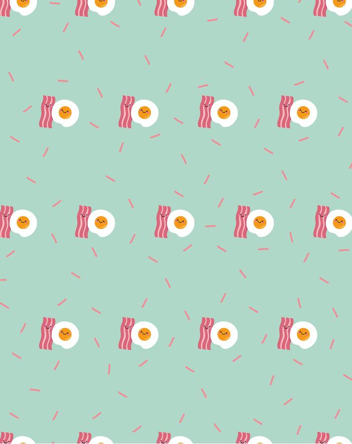 Kleine Decke Multi-Gesicht mit verschiedenen Hintergründen - Bacon and Egg