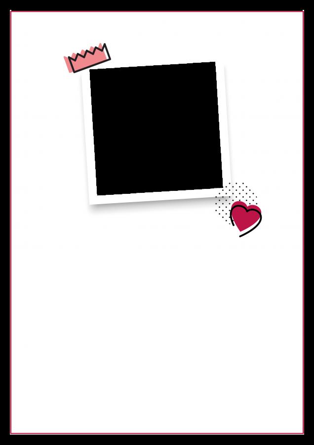Poster mit Foto und Zitat (POQUXT) - Rot