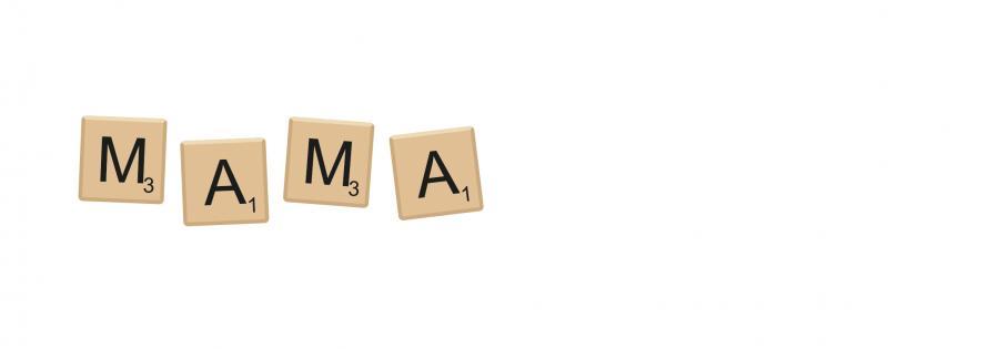 Metalltasse Scrabble Mama - DE/NL