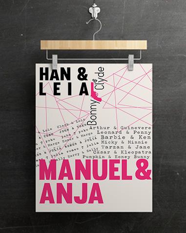 Berühmte Paare Poster